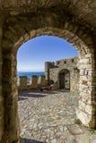 海滨堡垒Nafpaktos,希腊2018年1月05日 图库摄影
