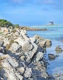 海滨岩石 免版税图库摄影