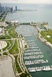 海滨广场在芝加哥 免版税图库摄影