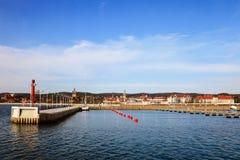 海滨广场在Sopot 库存图片
