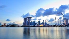 海滨广场海湾新加坡城市地平线  免版税库存照片