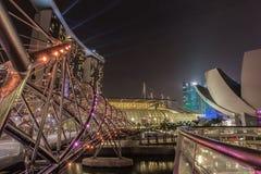 海滨广场海湾沙子-螺旋桥梁 库存照片