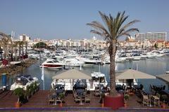海滨广场de Vilamoura, Algarve葡萄牙 库存照片