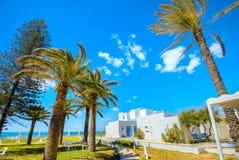 海滨胜地在纳布勒 突尼斯,北非 免版税图库摄影