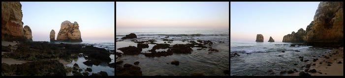 海滩三张相联 库存照片