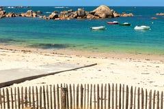 海滩不列塔尼 免版税库存图片