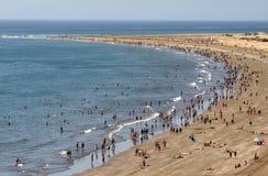 海滩业务量 免版税库存照片
