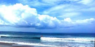 海滩中午12点 库存照片