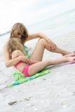 海滩中断 免版税库存图片