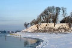 海滩丹麦雪 免版税库存照片
