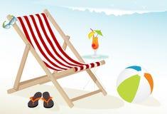 海滩乐趣图标 库存照片