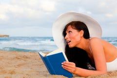 海滩书 图库摄影