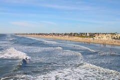 海滩亨廷顿 免版税图库摄影