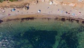 海滩从上面,雅典-希腊 库存照片