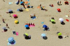 海滩从上面 图库摄影
