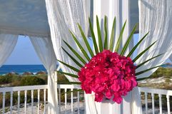 海滩仪式婚礼 图库摄影