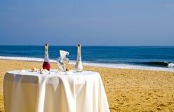 海滩仪式婚礼 免版税图库摄影