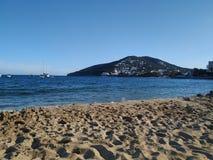 海滩伊维萨岛 图库摄影