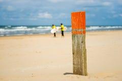 海滩会合点 免版税库存照片