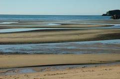 海滩低潮 库存图片