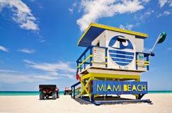 海滩佛罗里达迈阿密抢救 库存照片