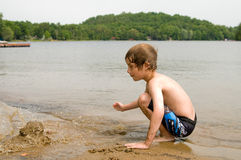 海滩作用 免版税图库摄影