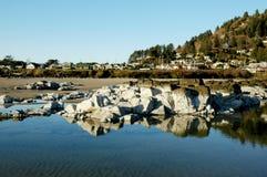 海滩俄勒冈城镇 图库摄影