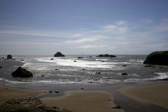 海滩俄勒冈 免版税库存图片