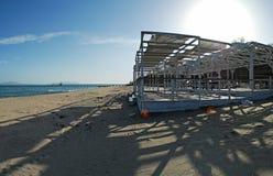海滩保加利亚burgas喂全景res 免版税图库摄影
