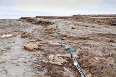 海滩停止的泥海运 库存图片