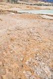 海滩停止的泥海运 图库摄影