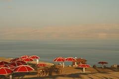海滩停止的ein gedi以色列海运 免版税图库摄影