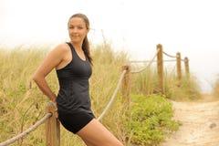 海滩健身设计路径休息 库存照片