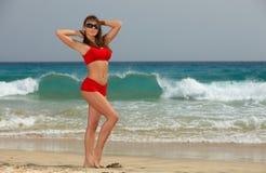 海滩健身 库存照片