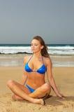 海滩健身 库存图片