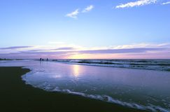 海滩光 库存照片
