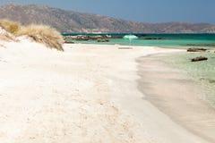 海滩克利特elafonisi希腊 免版税库存照片