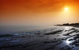 海滩克利特platanes 库存照片