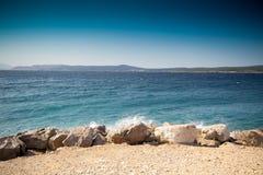 海滩克罗地亚人 免版税库存照片