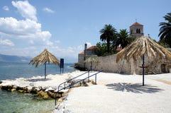 海滩克罗地亚 免版税库存照片