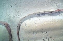 海滩入口从上面 免版税库存照片