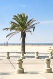 海滩入口monica ・圣诞老人 免版税库存照片