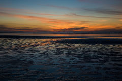 海滩八十英里日落 库存图片