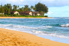 海滩公寓房 库存图片