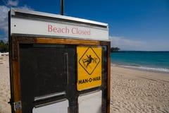 海滩关闭了 免版税库存照片