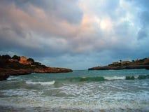 海滩冬天 库存照片