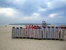 海滩冬天 库存图片