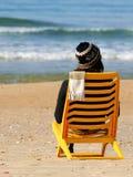 海滩冬天 免版税图库摄影