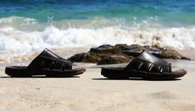 海滩凉鞋 免版税库存照片