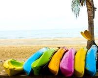 海滩划艇 库存图片